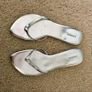 Express Silver Flip Flop Style Sandal